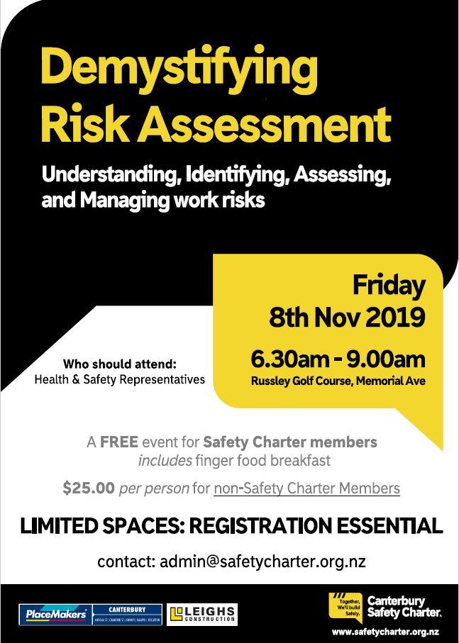 Risk Assessment Event poster